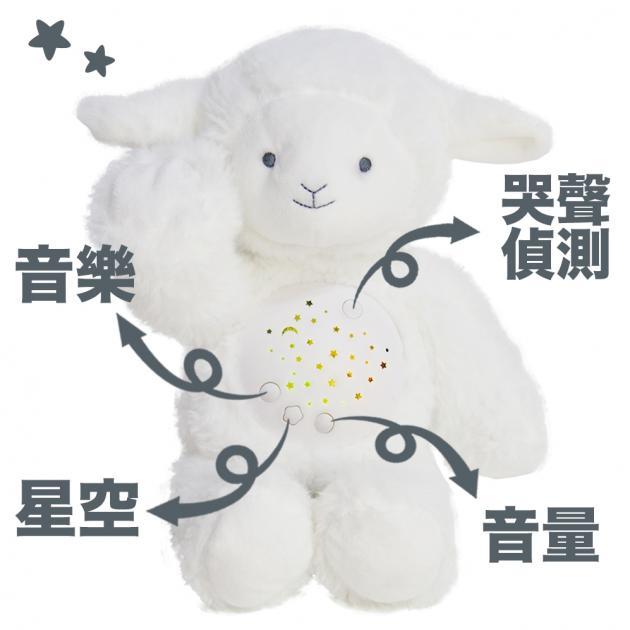 音樂小綿羊娃娃星星投射夜燈 4