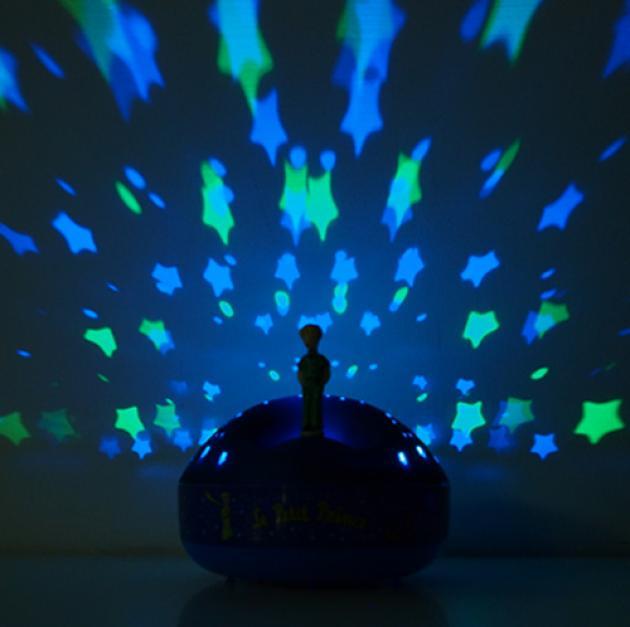 旋轉吧!小王子音樂星星投射夜燈 3
