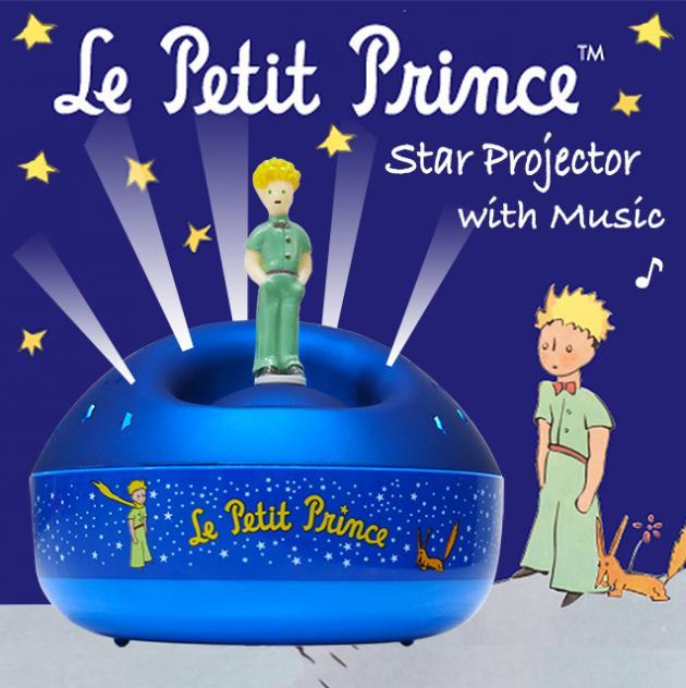 旋轉吧!小王子音樂星星投射夜燈 1