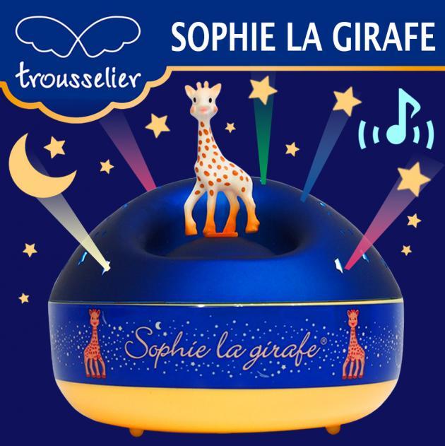 旋轉吧!蘇菲長頸鹿轉動音樂星星投射夜燈 1