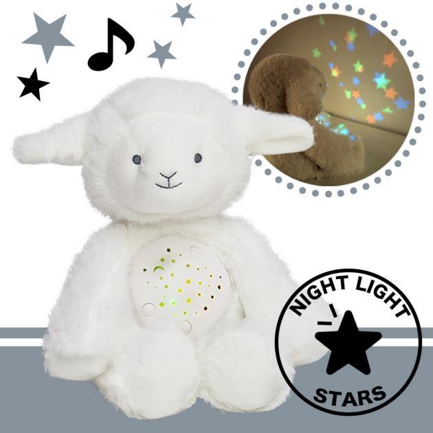 音樂小綿羊娃娃星星投射夜燈 1